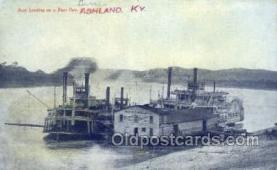 shi075275 - Boat Landing Ashland Ky Ferry Boats, Ship, Ships, Postcard Post Cards