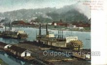 shi075276 - Coal Barge And Steamer Ferry Boats, Ship, Ships, Postcard Post Cards