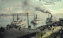 shi075277 - Boats On The River Foot Of Main Street Ferry Boats, Ship, Ships, Postcard Post Cards