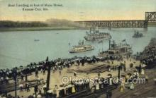 shi075279 - Boat Landing At The Foot Of Main Street Ferry Boats, Ship, Ships, Postcard Post Cards