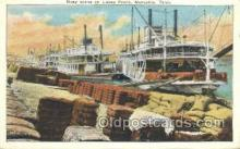 shi075296 - Busy Scene On Levee Front Memphis Ferry Boats, Ship, Ships, Postcard Post Cards