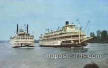 shi075306 - Belle Of Louisville vs Delta Queen Ferry Boats, Ship, Ships, Postcard Post Cards