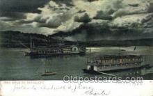 shi075324 - Ohio River By Moonlight Ferry Boats, Ship, Ships, Postcard Post Cards