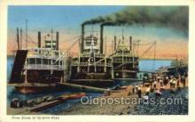 shi075337 - River Scene Of By Gone Days Ferry Boats, Ship, Ships, Postcard Post Cards
