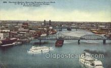 shi075368 - Portland Harbor Ferry Boats, Ship, Ships, Postcard Post Cards