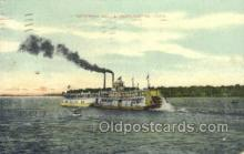 shi075371 - Ottumwa Belle Ferry Boats, Ship, Ships, Postcard Post Cards