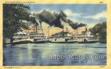 shi075373 - Steamboat Races On The River Ferry Boats, Ship, Ships, Postcard Post Cards