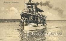 shi075377 - Okobji, Arriving at Manhattan, USA Ferry Boats, Ship, Ships, Postcard Post Cards