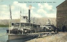shi075383 - Island Empire and Spokane at Dock, Lewiston, Idaho, USA Ferry Boats, Ship, Ships, Postcard Post Cards