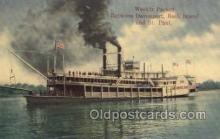 shi075396 - Davenport, Rock Island, & St. Paul Ferry Boats, Ship, Ships, Postcard Post Cards