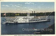 shi075398 - Morning Star, Rock Island, Illinois, USA Ferry Boats, Ship, Ships, Postcard Post Cards