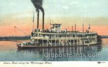 shi075404 - Steam Boat Along The Mississippi Ferry Boats, Ship, Ships, Postcard Post Cards