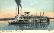 shi075405 - Steam Boat Along The Mississippi Ferry Boats, Ship, Ships, Postcard Post Cards