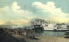 shi075408 - Levee, St Louis MO USA Ferry Boats, Ship, Ships, Postcard Post Cards