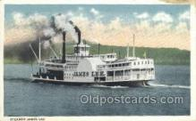 shi075414 - Steamer, James Lee Ferry Boats, Ship, Ships, Postcard Post Cards