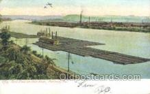 shi075422 - Coal Fleets On The Ohio River Ferry Boats, Ship, Ships, Postcard Post Cards