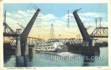 shi075436 - Mckinley Bridge, Peoria, Illinois, USA Ferry Boats, Ship, Ships, Postcard Post Cards