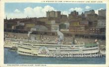 shi075438 - Washington Avenue Wharf, St. Louis, Mo. USA Ferry Boats, Ship, Ships, Postcard Post Cards