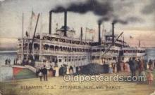 shi075447 - Steamer JS WW And Barge Ferry Boats, Ship, Ships, Postcard Post Cards