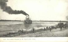 shi075452 - Steamer, J.S. Davenport, Iowa, USA Ferry Boats, Ship, Ships, Postcard Post Cards