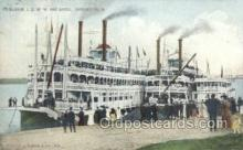 shi075453 - JS WW And Barge Ferry Boats, Ship, Ships, Postcard Post Cards