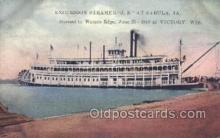 shi075454 - Steamer J.S. Sabula, Iowa, USA Ferry Boats, Ship, Ships, Postcard Post Cards