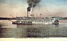 shi075455 - Steamer J.S.  Ferry Boats, Ship, Ships, Postcard Post Cards
