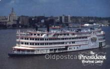 shi075469 - The President Riverboat Casino Ferry Boats, Ship, Ships, Postcard Post Cards