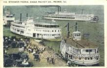 shi075472 - Peoria, Illinois, USA Ferry Boats, Ship, Ships, Postcard Post Cards
