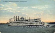 shi075474 - Steamer W.W., Clinton Ohio, USA Ferry Boats, Ship, Ships, Postcard Post Cards