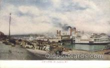 shi075478 - The Levee St Louis MO, USA Ferry Boats, Ship, Ships, Postcard Post Cards