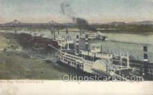 shi075483 - Ohio River Harbor, Cincinnati, Ohio, USA Ferry Boats, Ship, Ships, Postcard Post Cards