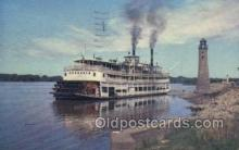 shi075491 - Excursion Boat On The Mississippi River Ferry Boats, Ship, Ships, Postcard Post Cards