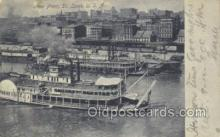 shi075494 - River Front St Louis Ferry Boats, Ship, Ships, Postcard Post Cards