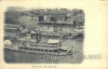 shi075495 - River Front St Louis Ferry Boats, Ship, Ships, Postcard Post Cards