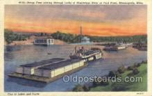 shi075500 - Barge Fleet Mississippi Ferry Boats, Ship, Ships, Postcard Post Cards