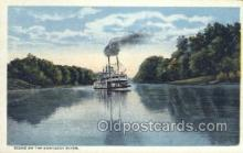 shi075503 - Scene On The Kentucky River Ferry Boats, Ship, Ships, Postcard Post Cards