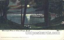 shi075504 - Moonlight, Lake George, New York, USA Ferry Boats, Ship, Ships, Postcard Post Cards