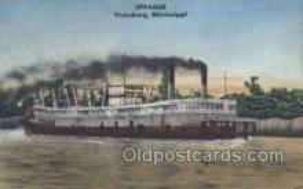 shi075507 - Sprague Vicksburg Mississippi, USA Ferry Boats, Ship, Ships, Postcard Post Cards
