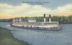 shi075508 - Sprague Vicksburg Mississippi, USA Ferry Boats, Ship, Ships, Postcard Post Cards