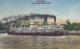 shi075509 - Sprague Vicksburg Mississippi, USA Ferry Boats, Ship, Ships, Postcard Post Cards