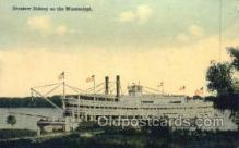 shi075516 - Sidney, on Mississippi, USA Steamer, Steam Boat, Steamboat, Ship, Ships, Postcard Post Cards