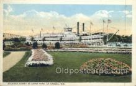 shi075518 - Sidney at Levee Park, La Crosse, Wisonsin, USA Steamer, Steam Boat, Steamboat, Ship, Ships, Postcard Post Cards
