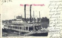 shi075523 - Steamer City Of Savannah Steamer, Steam Boat, Steamboat, Ship, Ships, Postcard Post Cards