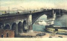 shi075526 - Eads Bridge East St Louis, Ill USA Steamer, Steam Boat, Steamboat, Ship, Ships, Postcard Post Cards