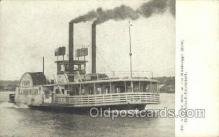 shi075528 - Ferry Boat Mississippi River, Davenport Steamer, Steam Boat, Steamboat, Ship, Ships, Postcard Post Cards