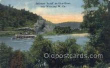 shi075529 - Wheeling, West Virginia, USA Steamer, Steam Boat, Steamboat, Ship, Ships, Postcard Post Cards