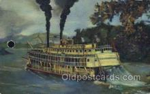 shi075535 - Old Fashioned Mississippi Stern Wheeler Steamer, Steam Boat, Steamboat, Ship, Ships, Postcard Post Cards
