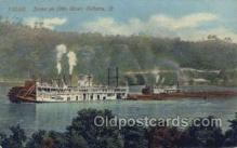 shi075536 - Scene On The Ohio River     Steamer, Steam Boat, Steamboat, Ship, Ships, Postcard Post Cards