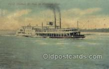 shi075540 - St Paul, On Mississippi, USA Steamer, Steam Boat, Steamboat, Ship, Ships, Postcard Post Cards